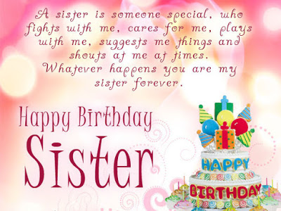 Beautiful Birthday Messages For Sister