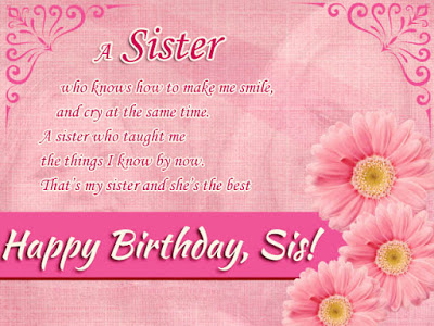 Beautiful Happy Birthday Messages For Sister